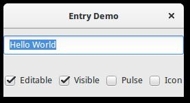8  Entry — Python GTK+ 3 Tutorial 3 4 documentation